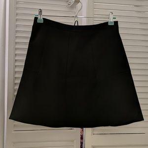 A-line neoprene black JCrew skirt